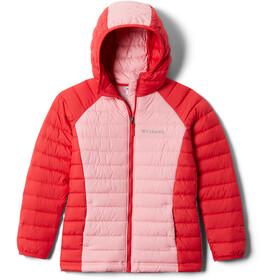 Columbia Powder Lite Giacca Con Cappuccio Ragazza, rosso/rosa